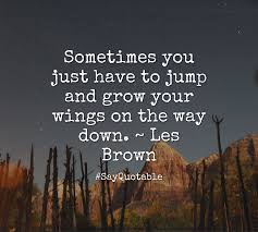 Jump and grow your wings on the way down